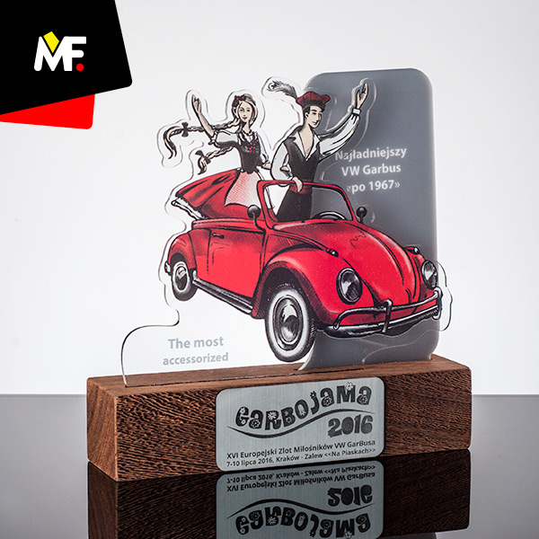 Fahrzeugtrophäe zum 16. Europäischen Treffen der VW Käfer-Fans