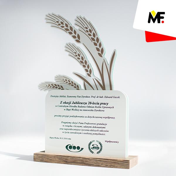 Ehrenpreis zum 20. Jahrestag der Arbeit im Zentralen Institut für Kulturpflanzenforschung