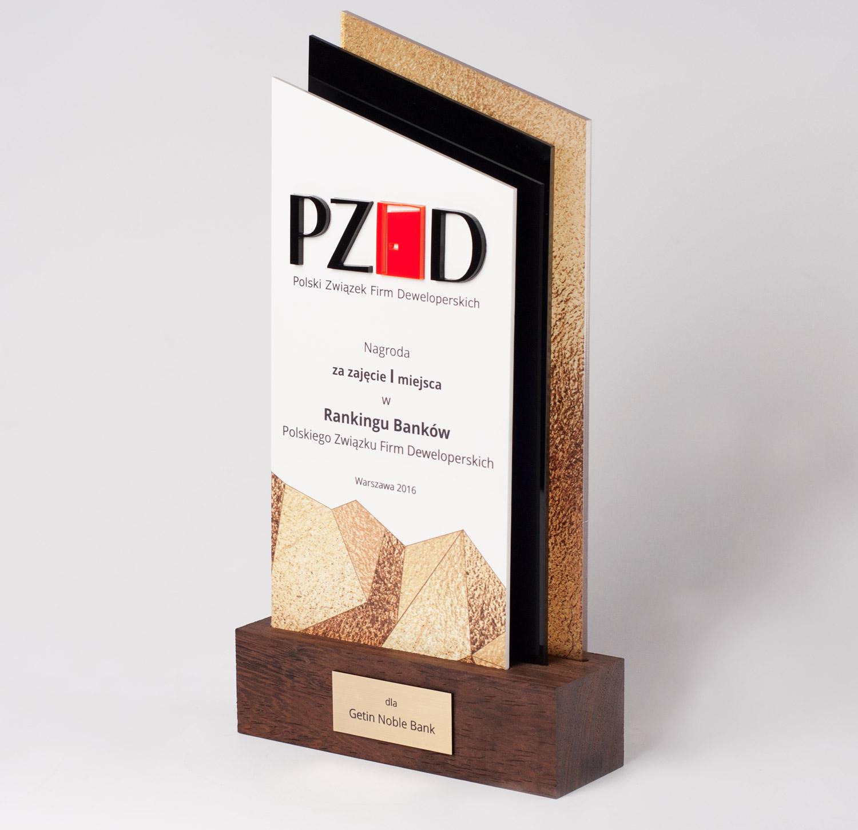 Preis für den 1. Platz in der Rangliste der Banken des polnischen Verbandes der Baufirmen